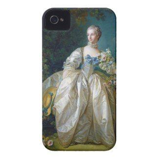 FRANCOIS BOUCHER - MADAME BERGERET portrait art iPhone 4 Cases #francois #Boucher #madame #bergeret #painting #rokoko #gift #accessory #decoration #lady #art #Paris #France