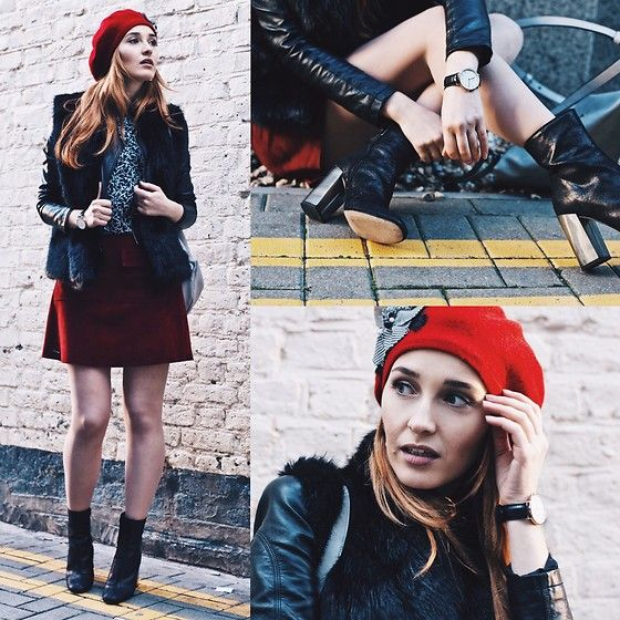 Get this look: http://lb.nu/look/8591235  More looks by Fashion Artista: http://lb.nu/fashionartista  Items in this look:  Daniel Wellington Watch, Superdry Faux Fur Vest, L'intervalle  Boots, Superdry Skirt   #fauxfur #winterstyle #outerwear #redandblack #londongirl #photographylover #perfectshot