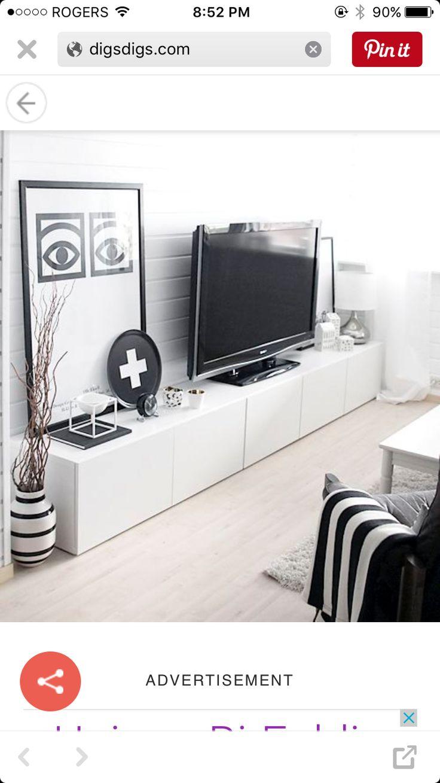 Mejores 80 imágenes de Media room en Pinterest   Mueble tv, Unidades ...