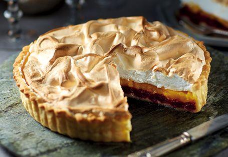 Tangerine and Cranberry Meringue Pie