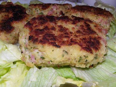 Malène aux fourneaux: croquette de jambon aux herbes - 2PP / croquette