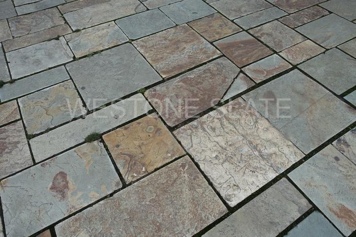 Slate paving tiles for patio