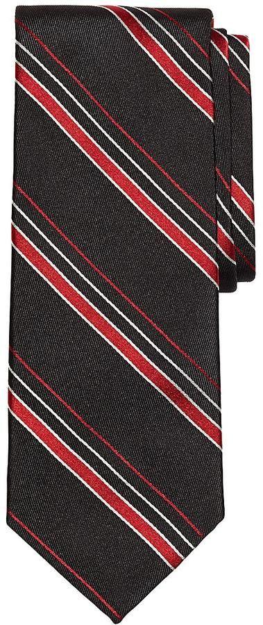 男性へのクリスマスプレゼント: Brooks Brothers ラグジュアリー サテン サイドウィラーストライプ タイon ShopStyle