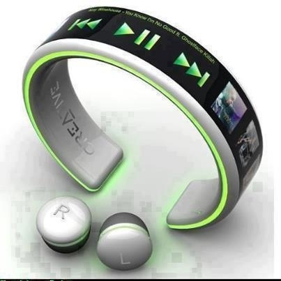 mp3 player with bluetooth earplugs modern technology and gadgets pinteres. Black Bedroom Furniture Sets. Home Design Ideas