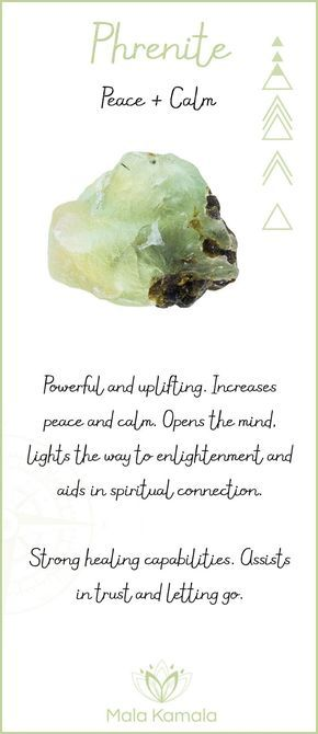 What is the meaning and crystal and chakra healing properties of prehnite? A stone for peace and calm.