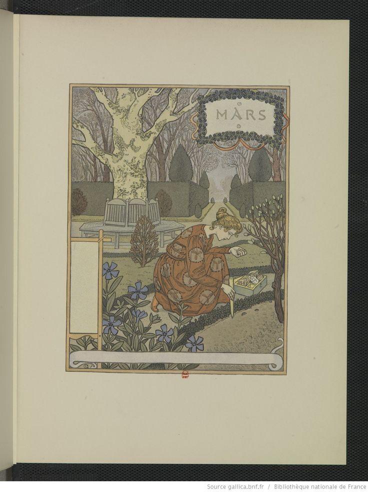 Les Mois, douze compositions d'Eugène Grasset, gravées sur bois et imprimées en chromotypographie | Gallica