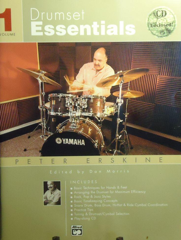 Peter Erskine - Drumset Essentials - Volume 1 - Drum Instruction Book - w/CD