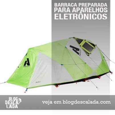 Empresa outdoor lança #barraca preparada para aparelhos eletrônicos #camping