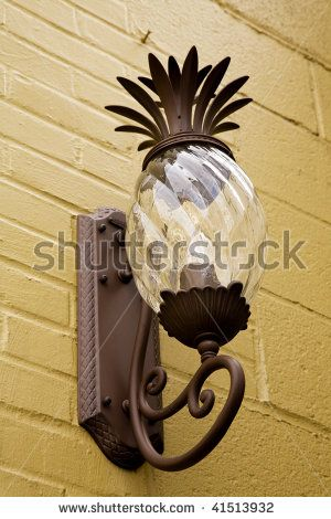 Pineapple light fixture i 39 ve seen these and they are awesome dream home pinterest for Pineapple exterior light fixtures