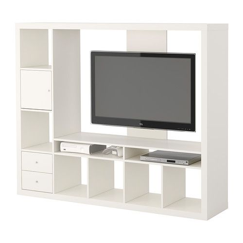 EXPEDIT Tv-meubel IKEA De elementen kunnen links of rechts worden geplaatst; kies wat het meest praktisch is.
