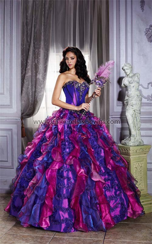 Mardi Gras Sweet Sixteen Dress