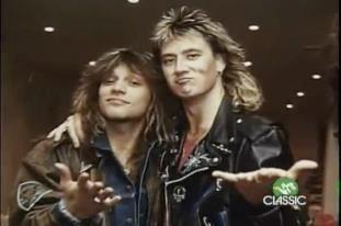 Jon Bon Jovi and Joe Elliot of Def Leppard