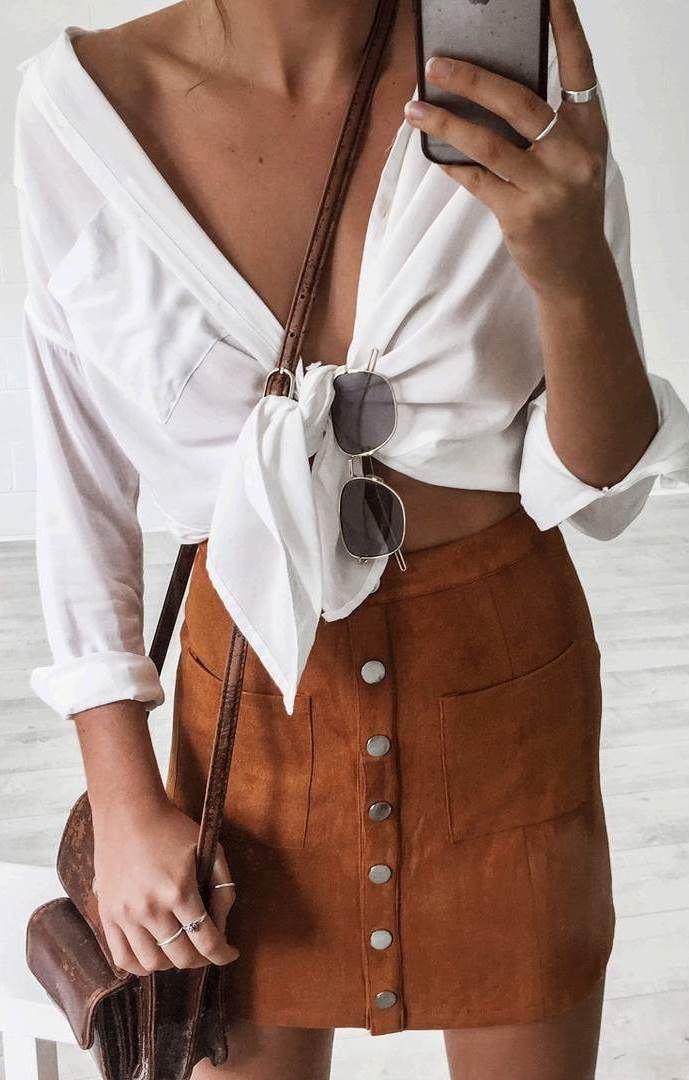 cool ootd shirt + skirt + bag