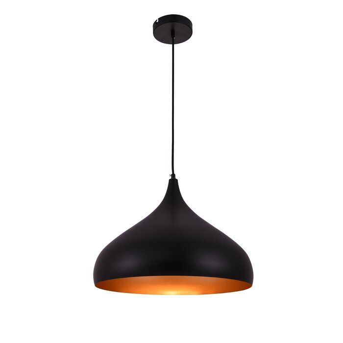 Siegbald 1 Light Single Teardrop Pendant Elegant Lighting Pendant Lighting Light