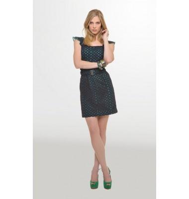 Φόρεμα με ζώνη & βολάν στα μανίκια, 1-303257  dress women's fashion