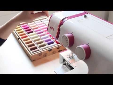 Costura desde cero: Enhebrar la máquina de coser (aprende a colocar el hilo)
