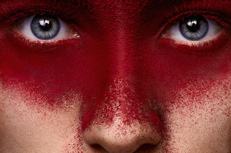 Red Color Makeup on Face of beauty Girl with pink Lips on Behance