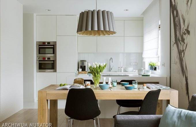 biała kuchnia otwarta