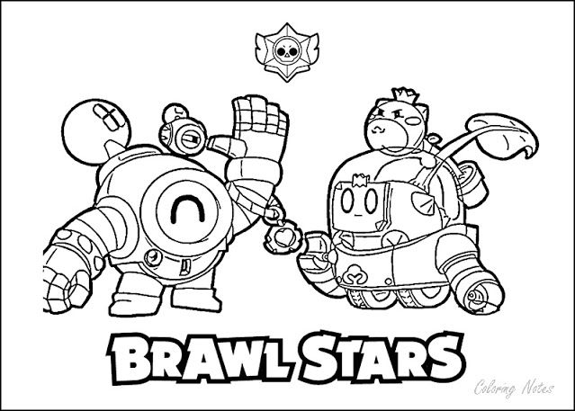 Brawl Stars Coloring Pages Nani Easy Printable Star Coloring Pages Coloring Pages Color