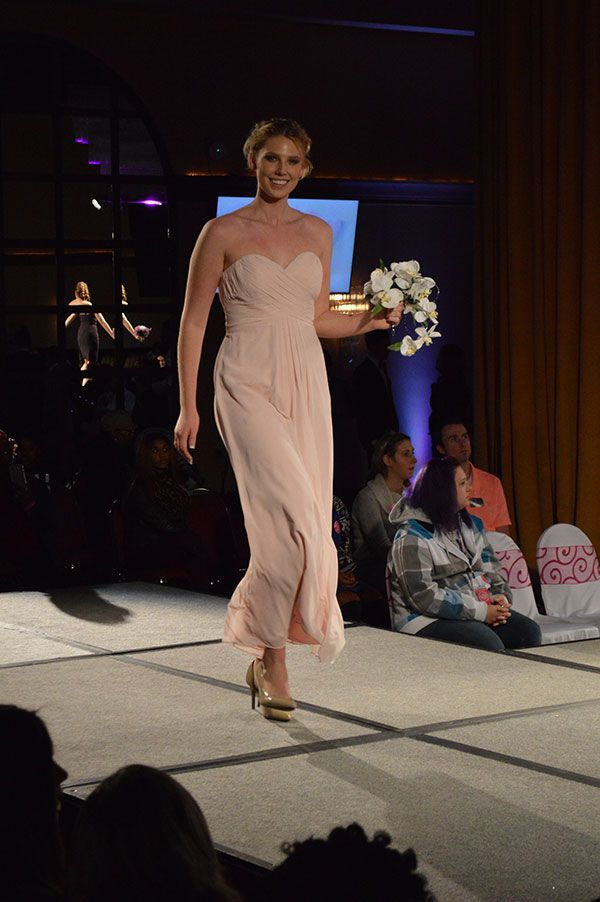 Awesome Lavender Bridal Salon blush pink bridesmaid dress as seen at the Today us Bride Fashion Show