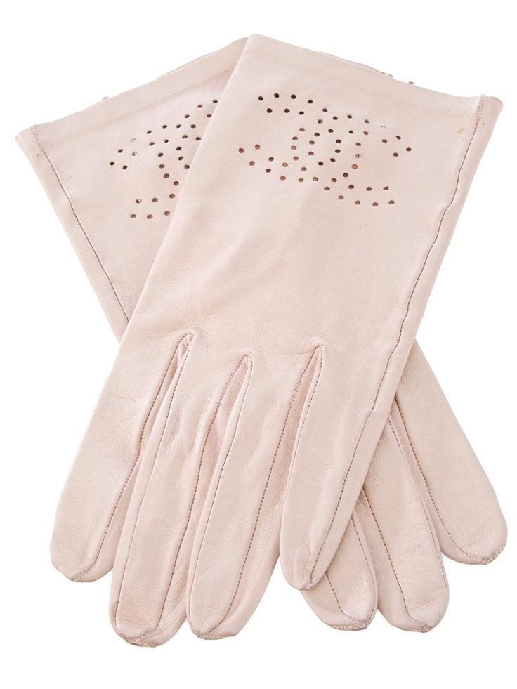 Vintage Chanel leather gloves