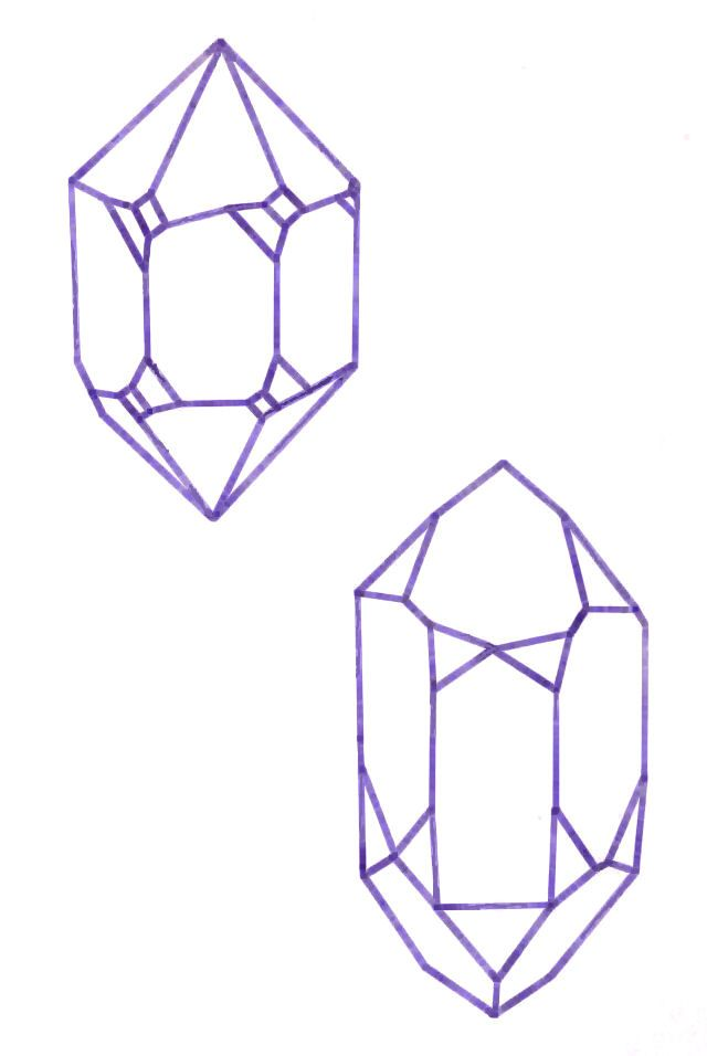crystals line drawings - Google Search