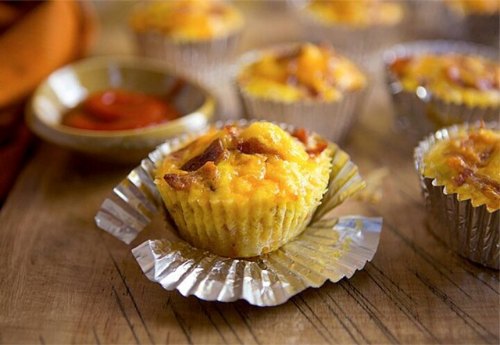 Blue Moon Bacon Cheddar Savory Cupcakes Recipe — Dishmaps