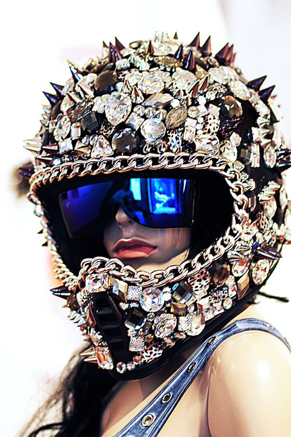 NEEEEED!!Can this be my dirt bike helmet please and thank you?!!!!!!  With swarvoski crystals. If I need a helmet.... It needs to shine!