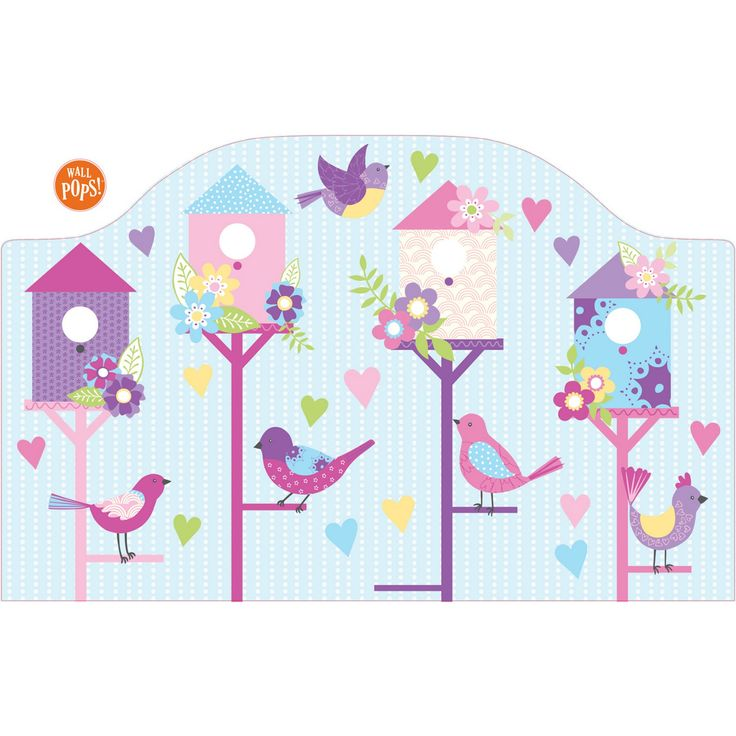 WallPops Chirping The Day Away Twin Headboard Decal - DWPH1331