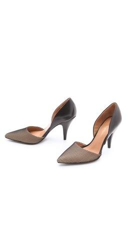 3.1 Phillip Lim Diamond D'Orsay Pumps | remind me of fishnet stockings
