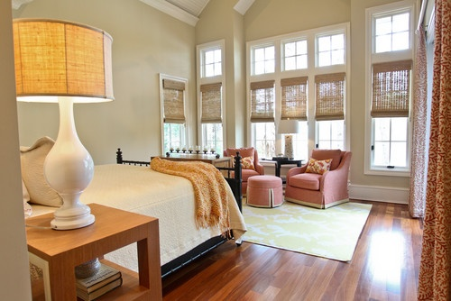 traditional bedroom by Margaret Donaldson Interiors: Romans Shades, Bedrooms Design, Traditional Bedrooms, Donaldson Interiors, Margaret Donaldson, Master Bedrooms, Window Treatments, Window Seats, Beaches Style