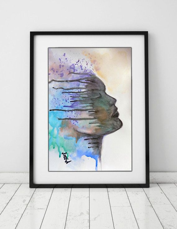 abstract portrait expressionism original by artstudioAreti on Etsy