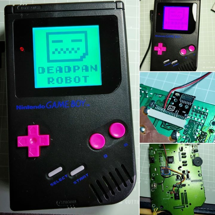 RGB backlight with controller – hold Select during startup to start colour cycling the backlight press start to confirm and store – found this great shade of Aqua Green that just looks gorgeous  . RGB Backlight  Bivert Mod  Black Screen Lens  Pink NES Style Buttons . #DeadpanRobot #GameBoyMods #nintendo #GameBoy #DMG