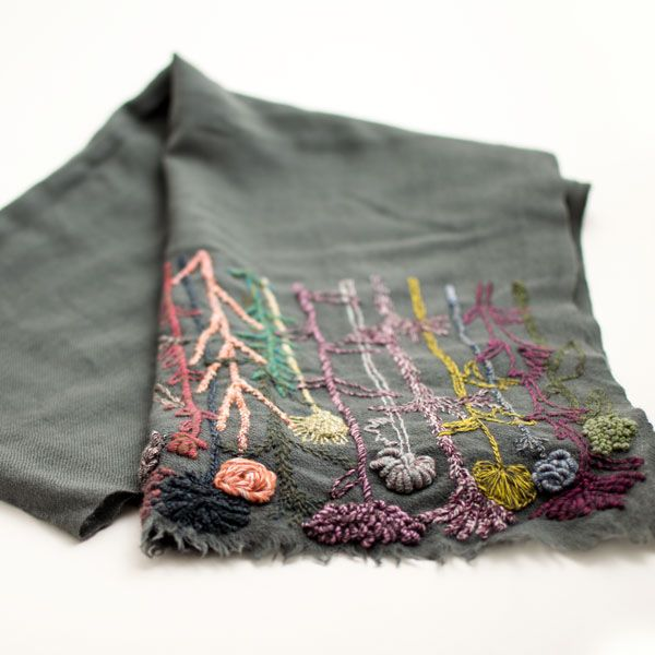 Sophie Digard - Wild Plants Linen Scarf