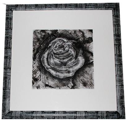 UNA PROMESSA...TI ASPETTERO' #rose #art #blak #white #pen #quadro