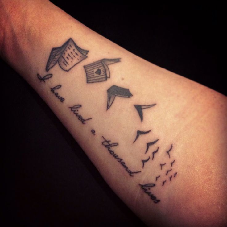 My New Literary Tattoo. Flying Books That Turn Into Birds