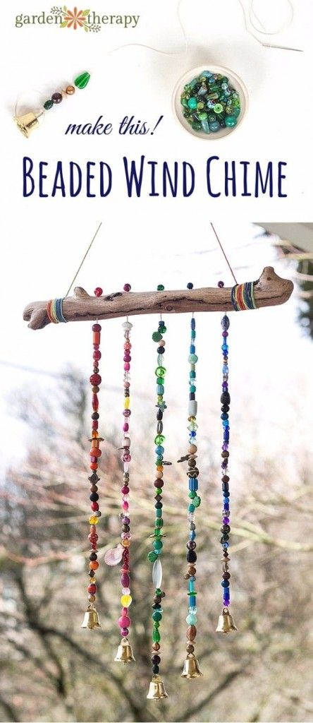 DIY Ideas for Your Garden - Sparkly Beautiful Beaded Garden Wind Chime - Cool Projects for Spring and Summer Gardening - Planters, Rocks, Markers and Handmade Decor for Outdoor Gardens