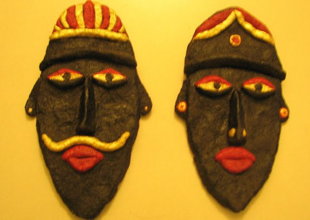17 best images about masks of india on pinterest paper for Paper mache art and craft