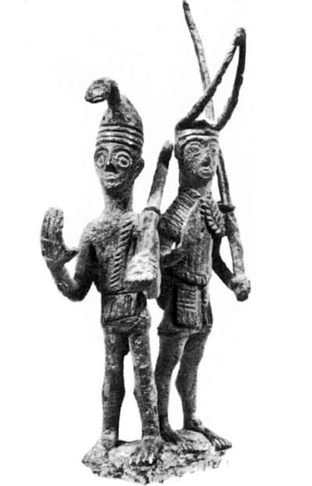 Sardinia, bronze sculpture representing a warrior
