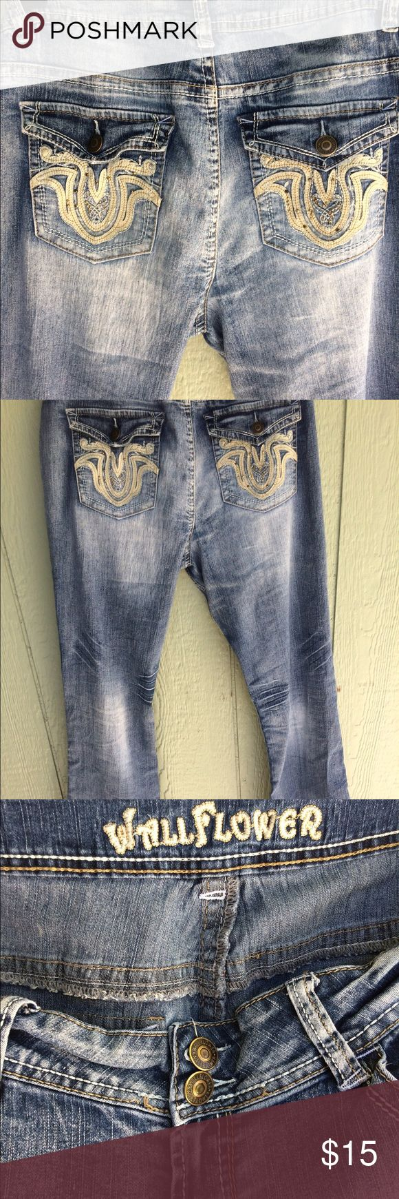 Wallflower Jeans 👖 Wallflower Jeans size 17 inseam is about 31 1/2. Only worn 2 times. They are just too big for me. Very comfy and stretchy material. Great condition with no flaws and no fray! Wallflower Jeans Boot Cut