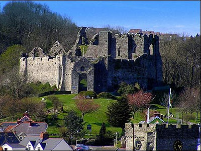 Oystermouth Castle, Mumbles, Gower, Wales