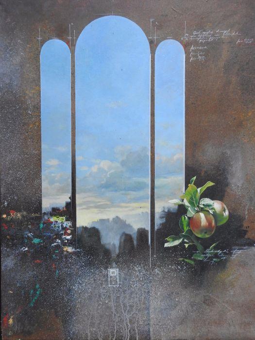 Hasan Saygin - Paysage Abstrait  Hasan Saygin (1958-) - Paysage AbstraitOlieverf op doek.Afmetingen van 87 x 72 cm80 x 65 (frame excl.)De schilder van Turkse afkomst woonachtig in Frankrijk sinds 1982. Regelmatig exposeren in galeries en musea.  EUR 10.00  Meer informatie