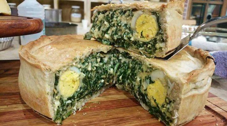 Tarta pascualina, de choclo y calabaza y de jamón y queso