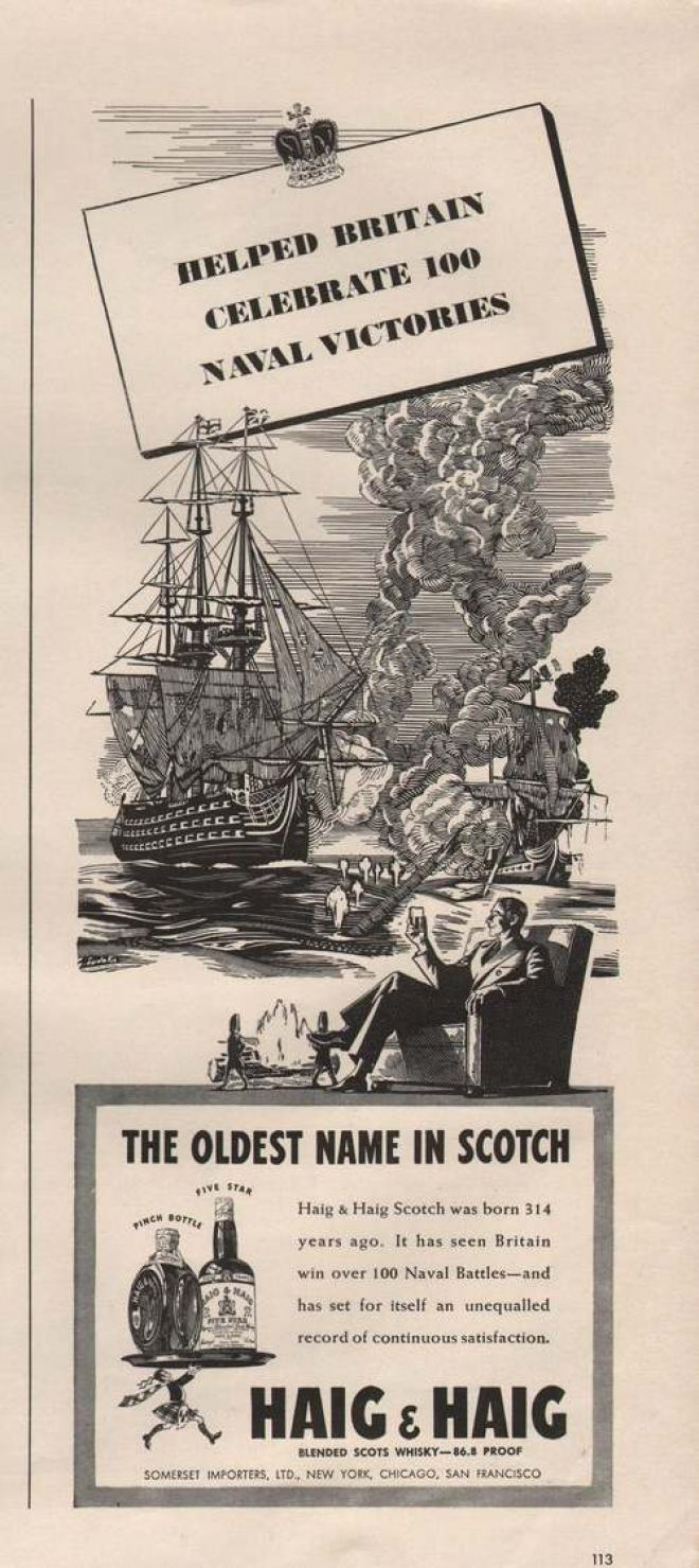 Haig & Haig Whisky Naval Victories (1942)