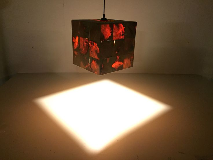 Recycling wood lamp