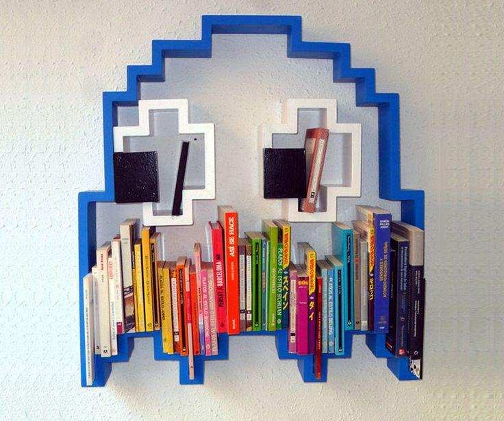 Pac Man Ghost Bookshelf Home Office Pinterest
