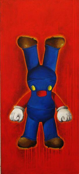 Elmar Lause, Supasupa, 2010, Painting, mixed media on Canvas, 100 x 45 cm