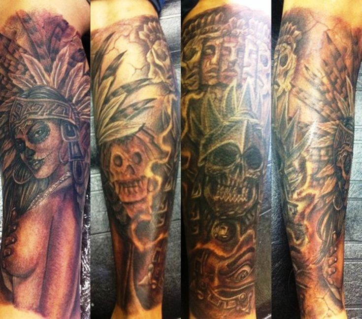 16 best aztec arm tattoos images on pinterest arm tattoo for Aztec armband tattoos