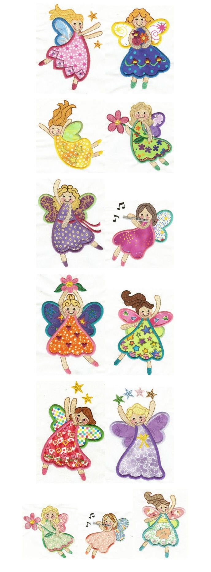 Embroidery designs | free machine embroidery designs | fairies applique