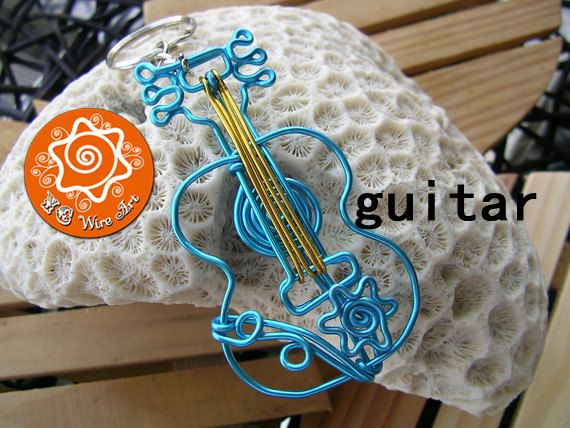 Musical Instrument Wire Bending Ornament Guitar by MapleWoods, $12.00